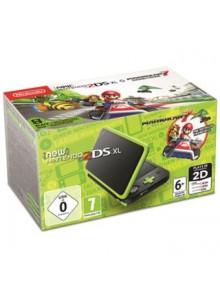 New 2DS XL Preto + Verde Lima + Mario Kart 7 (pré-instalado)